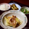 【キャベツと豚ロースの蒸し煮】【キュウリとカニカマの胡麻酢和え】簡単料理と献立