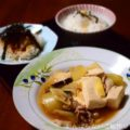 【肉豆腐】【落とし卵の煮物】【大根サラダ】簡単料理と献立