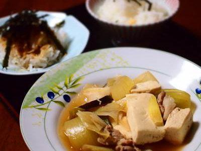 肉豆腐の献立