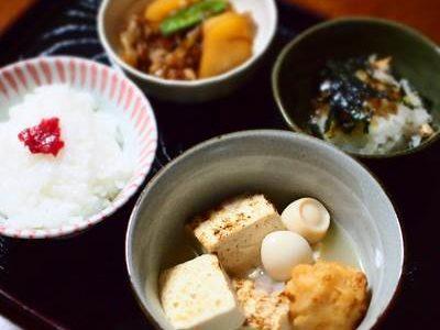 焼き豆腐の煮物の献立