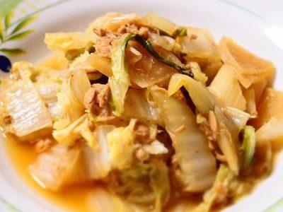 白菜とツナ大根の煮物