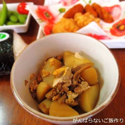 鶏肉と玉子入り舞茸とジャガイモ煮