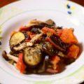 【ナスとトマトのニンニク炒め】簡単料理と献立