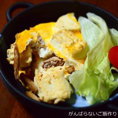 豆腐と焼豚の卵炒め