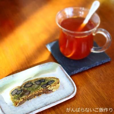 栗と黒豆のシュトレンと紅茶