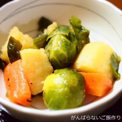 芽キャベツのコンソメ炒め煮