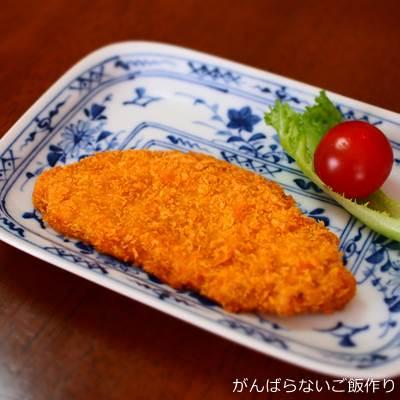 オーブンで焼いた長州どりの白身魚フライ