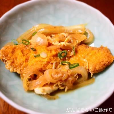 白身魚フライの卵とじ