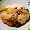 【豆腐とキャベツとネギのすき焼き風煮物】簡単料理と献立
