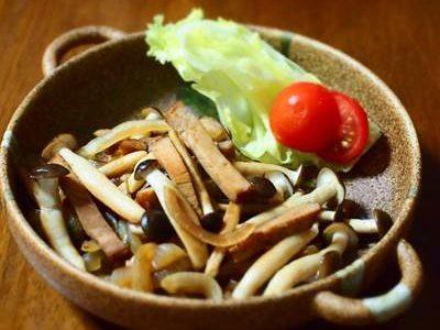 焼豚と玉ねぎの炒めもの