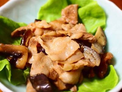 豚バラなすのぽん酢炒め煮