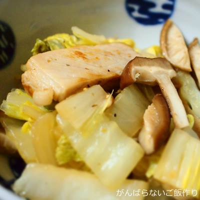 ロースハムと白菜の煮物