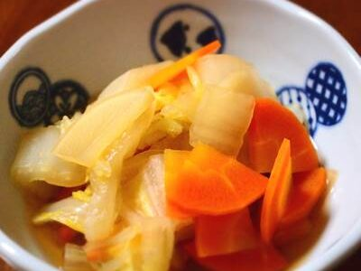 白菜・大根・人参の煮物