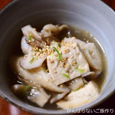 舞茸と豆腐の中華スープ