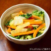 白菜とニンジンのきんぴら